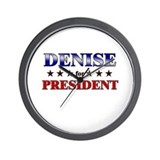 DENISE for president Wall Clock