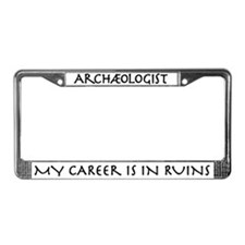 Archaeologist Career Ruins License Plate Frame