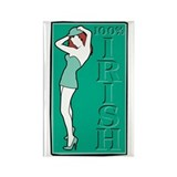 One Hundred Percent Irish Rectangle Magnet (10 pac