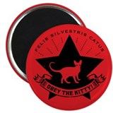 Obey the KITTY! Star Propaganda Magnet
