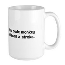 LargeMug PEBKAC Error Code Monkey Missed A Stroke