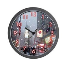 Times Square Holiday Wall Clock