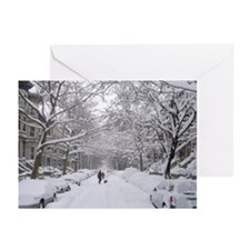 Snow on 6th St. Holiday Greeting Cards (Pk of 10)