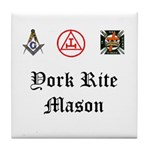 York Rite Mason Tile Coaster