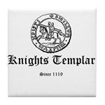 Knights Templar Ancient Seal Tile Coaster