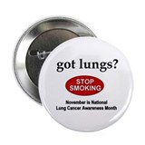 "Lung Cancer Awareness 2.25"" Button"