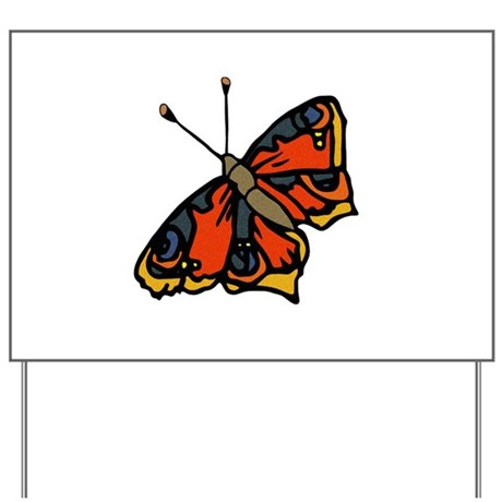 Orange Butterfly Yard Sign