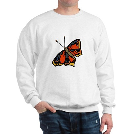 Orange Butterfly Sweatshirt