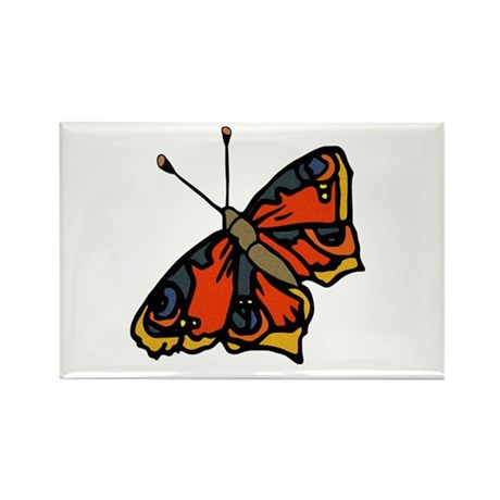 Orange Butterfly Rectangle Magnet (100 pack)