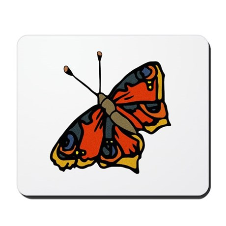 Orange Butterfly Mousepad