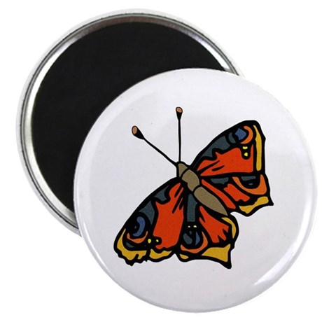 "Orange Butterfly 2.25"" Magnet (10 pack)"