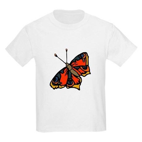 Orange Butterfly Kids Light T-Shirt