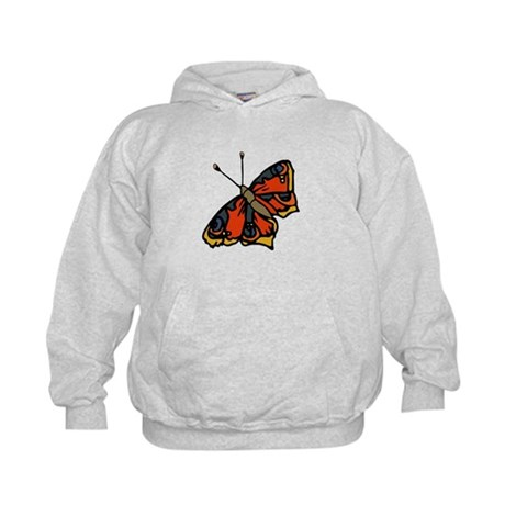 Orange Butterfly Kids Hoodie
