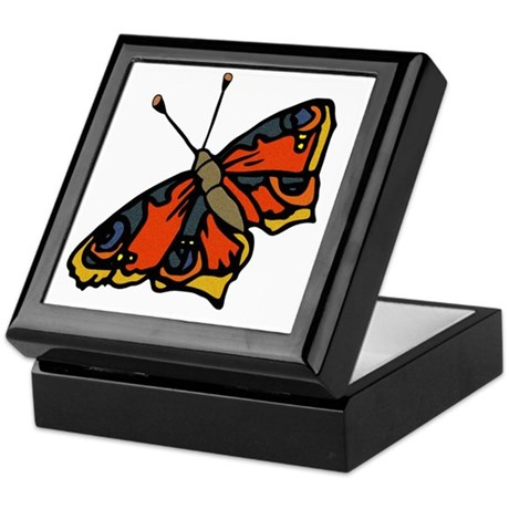 Orange Butterfly Keepsake Box