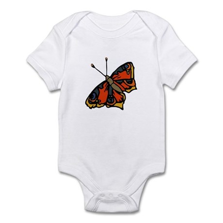 Orange Butterfly Infant Bodysuit