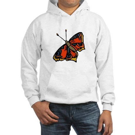 Orange Butterfly Hooded Sweatshirt