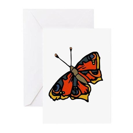 Orange Butterfly Greeting Cards (Pk of 10)