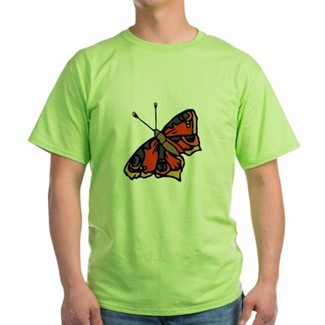 Orange Butterfly Green T-Shirt