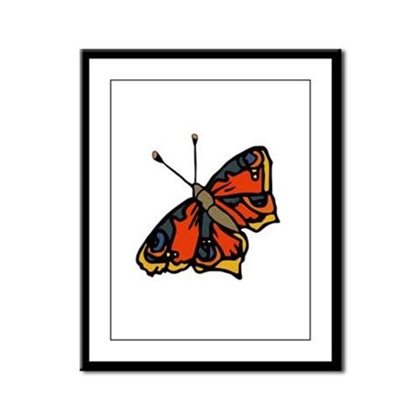 Orange Butterfly Framed Panel Print