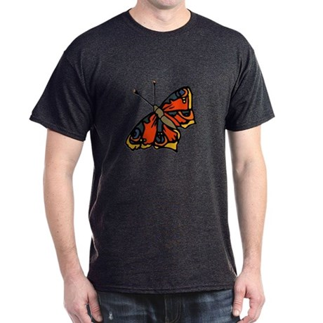 Orange Butterfly Dark T-Shirt