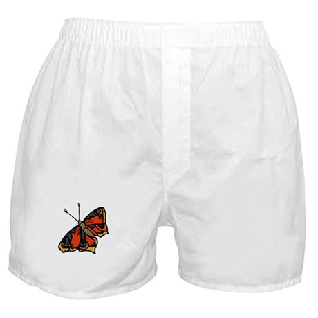Orange Butterfly Boxer Shorts