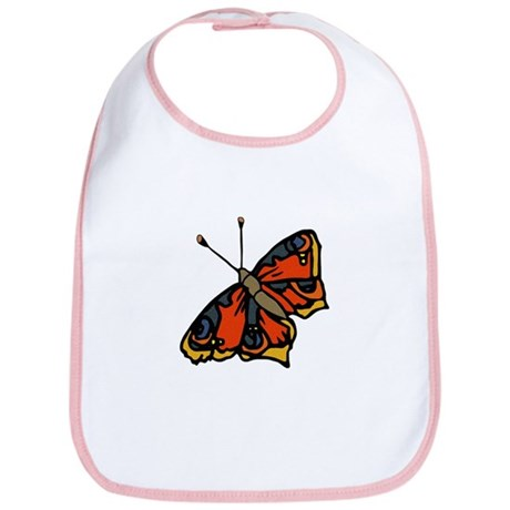 Orange Butterfly Bib