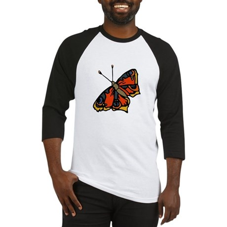 Orange Butterfly Baseball Jersey
