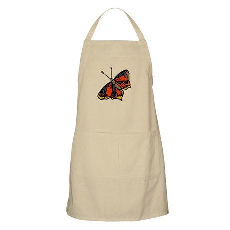 Orange Butterfly BBQ Apron