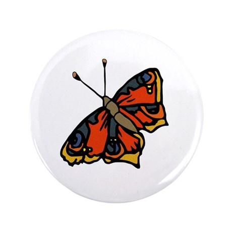 "Orange Butterfly 3.5"" Button (100 pack)"