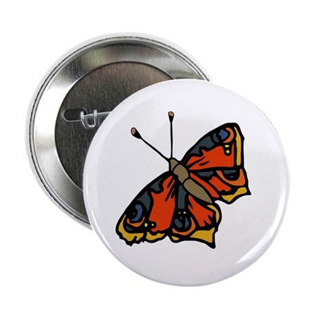 "Orange Butterfly 2.25"" Button (100 pack)"