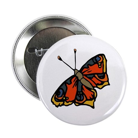 "Orange Butterfly 2.25"" Button"
