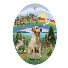 RBridge - Yellow Lab HARLEY Oval Ornament