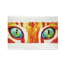 Orange Cat Eyes Rectangle Magnet (100 pack)