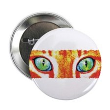 "Orange Cat Eyes 2.25"" Button (100 pack)"