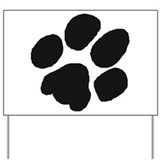 Pawprint Yard Sign