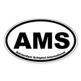 Amsterdam Schiphol International Oval Decal
