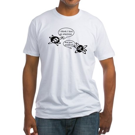 Atoms & Electrons Fitted T-Shirt