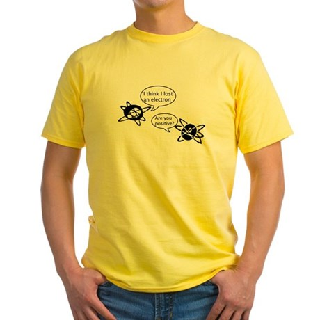 Atoms & Electrons Yellow T-Shirt