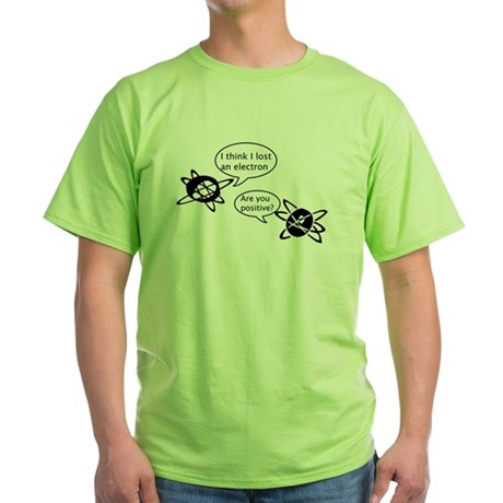 Atoms & Electrons Green T-Shirt
