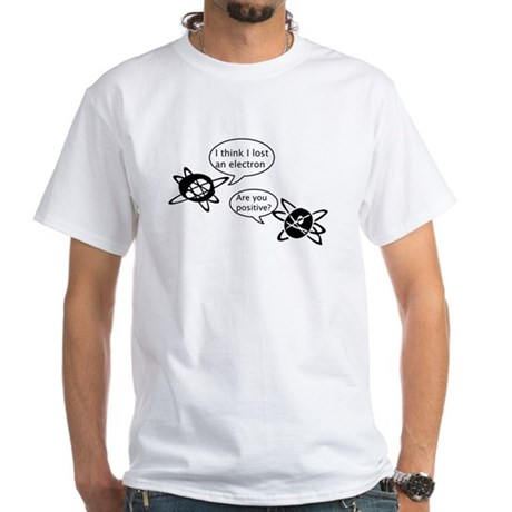 Atoms & Electrons White T-Shirt