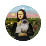 Mona's Himalayan cat (1) Ornament (Round)