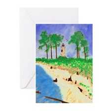 Madisonville Lighthouse Paint Greeting Cards (Pk o