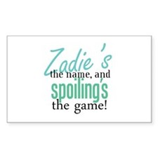 Zadie's the Name! Rectangle Decal