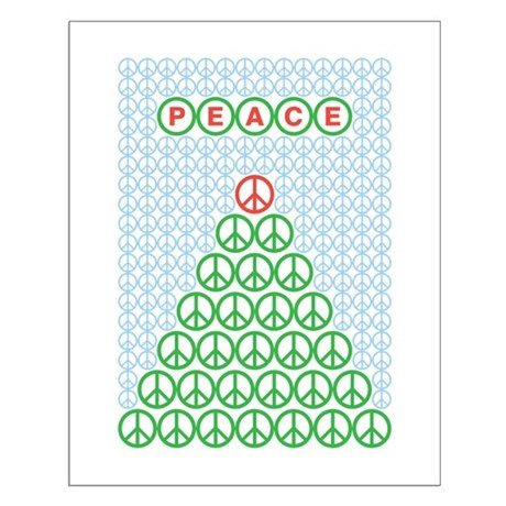 Peace Christmas Tree Small Poster