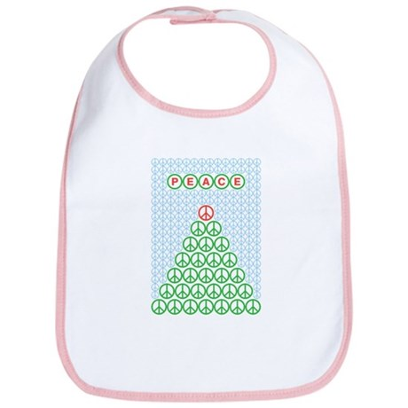 Peace Christmas Tree Bib