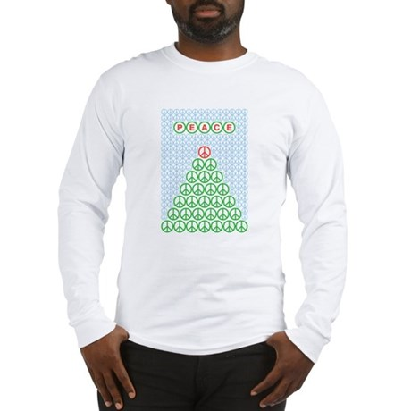 Peace Christmas Tree Long Sleeve T-Shirt