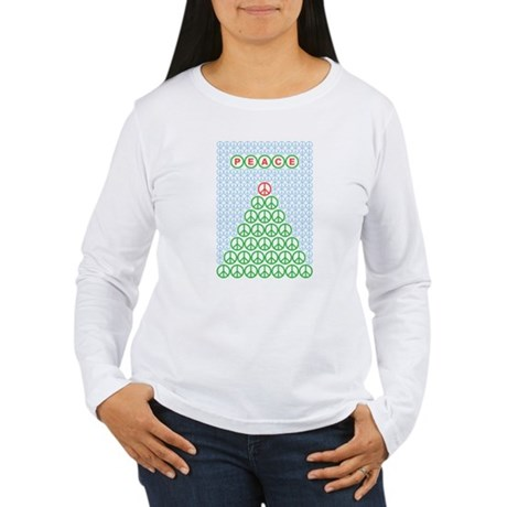 Peace Christmas Tree Women's Long Sleeve T-Shirt