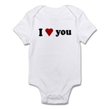 I Love You Infant Bodysuit
