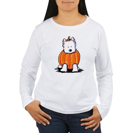 Punkin' Westie Women's Long Sleeve T-Shirt