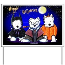 HAPPY HALLOWEEN Westies Art Yard Sign